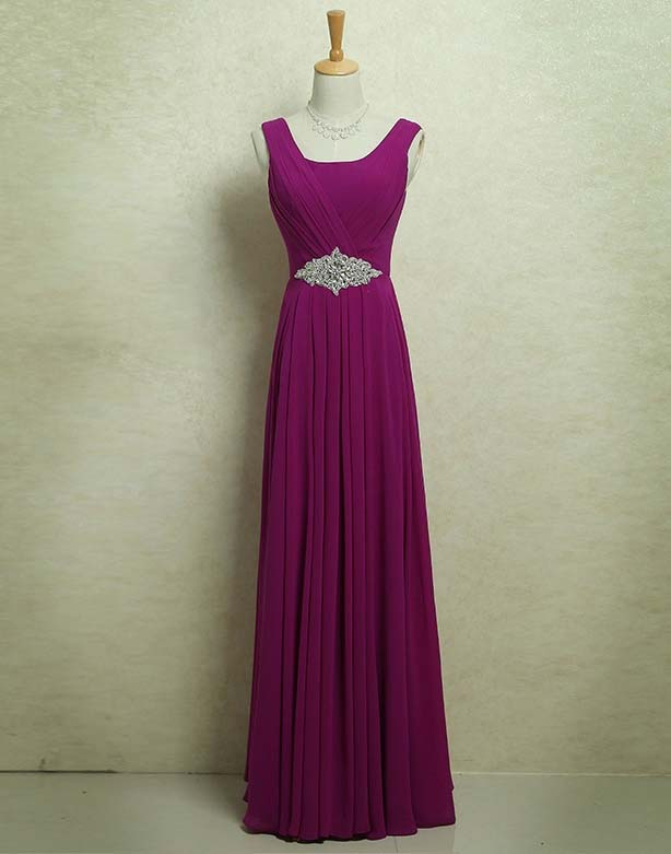 9955bead91 Burgundy purple lavender 80S 50S Vintage elegant glam floor length long  round neck straps crystals on waist edgy chiffon woman formal evening dress