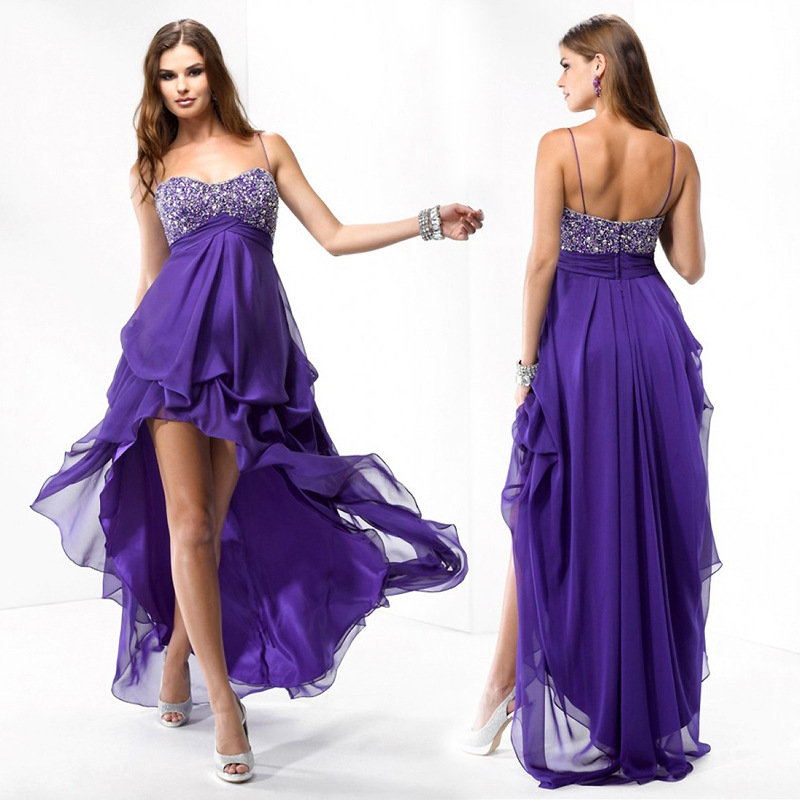 9909eb24491 ... stunning African empire purple lavender chiffon woman formal evening  dress