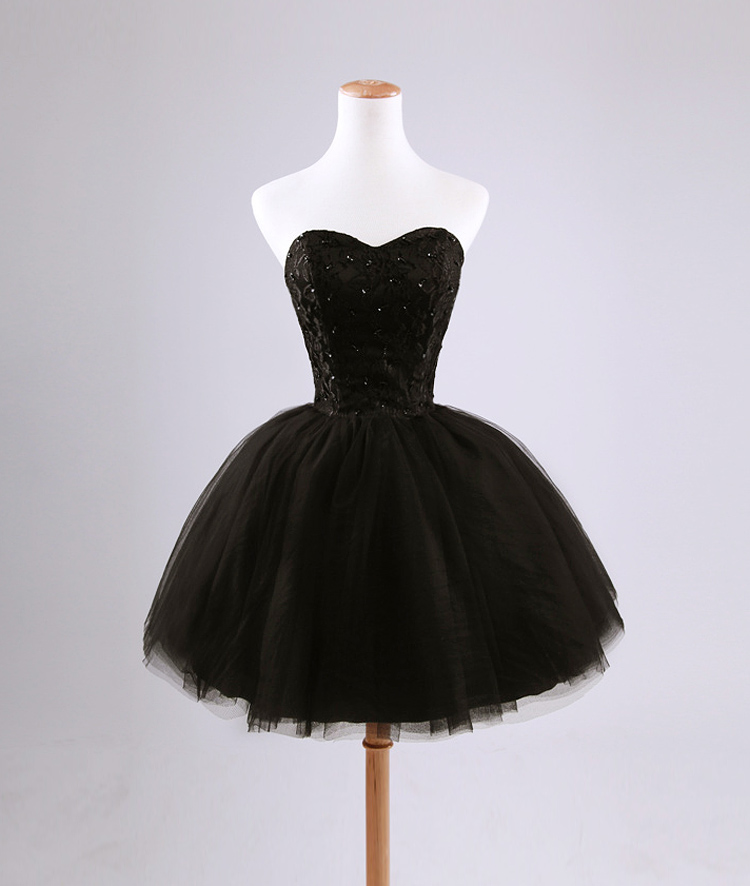 1a0a0c01acd Sweetheart lace up corset tulle short mini little black dress tulle lace  junior girl teen cute ball gown princess woman formal evening dress